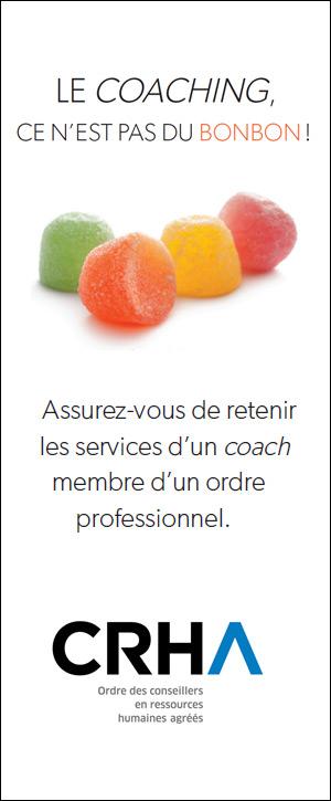 Le coaching ce n'est pas du bonbon!