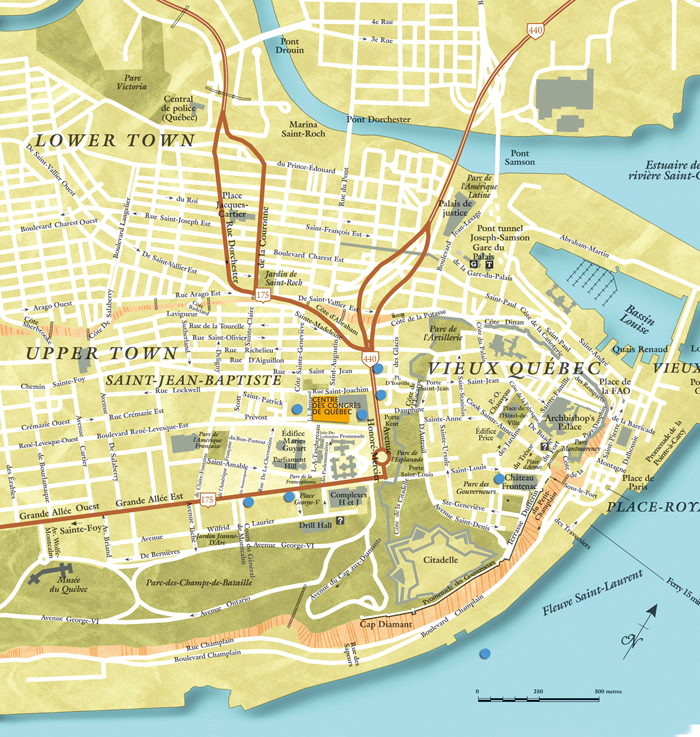 City Map Of Montreal Quebec