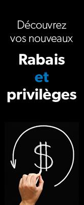 Rabais et privilèges